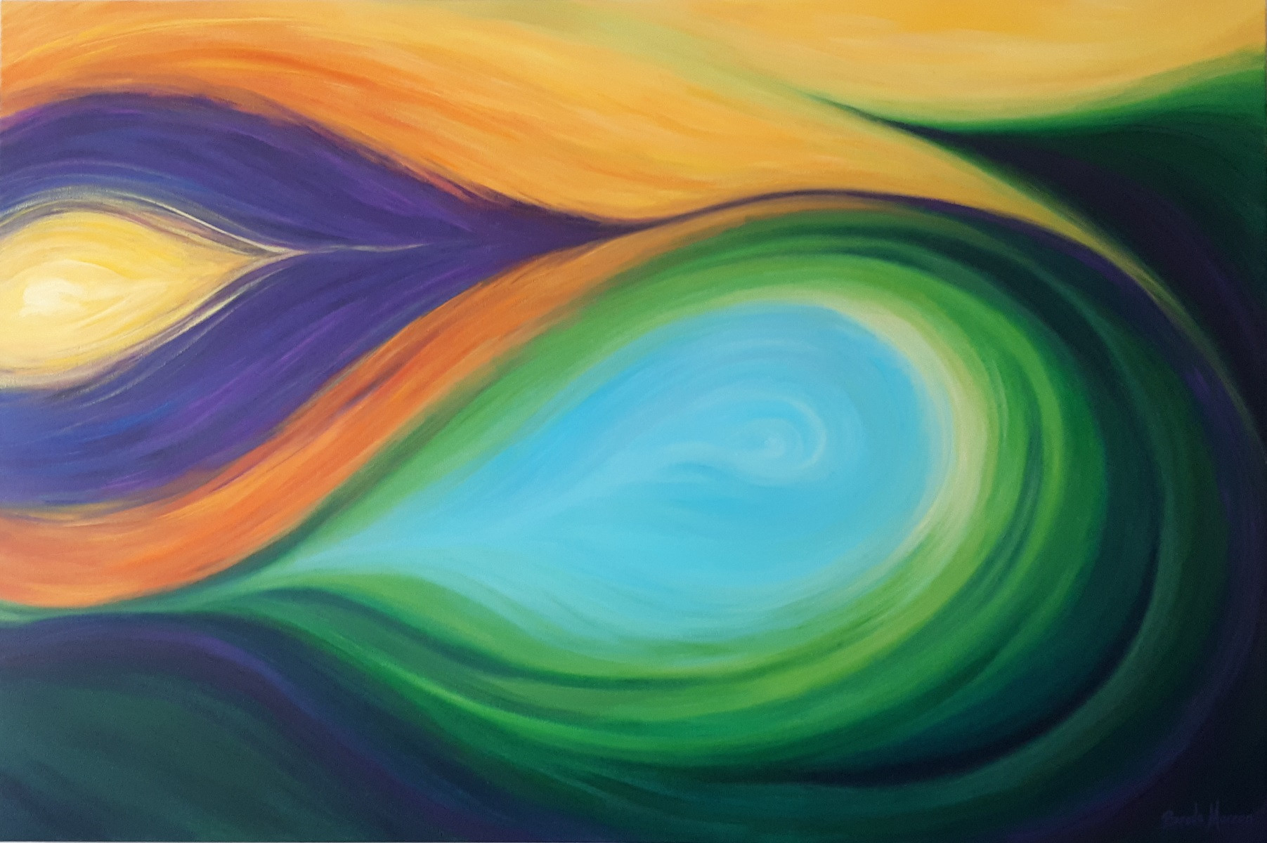 'Soul Song' acrylic on Linen canvas, 120cm x 80cm x 4cm