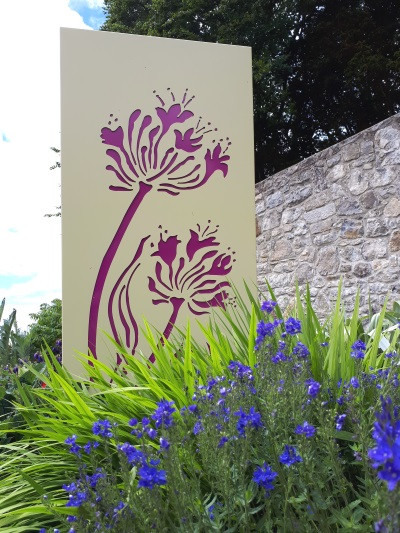 'Agapanthus Pink' Art Panel, design & colours can be customised, 1.8m x 0.9m
