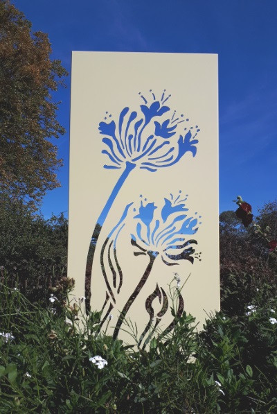 'Agapanthus' Art Panel, design & colours can be customised, 1.8m x 0.9m